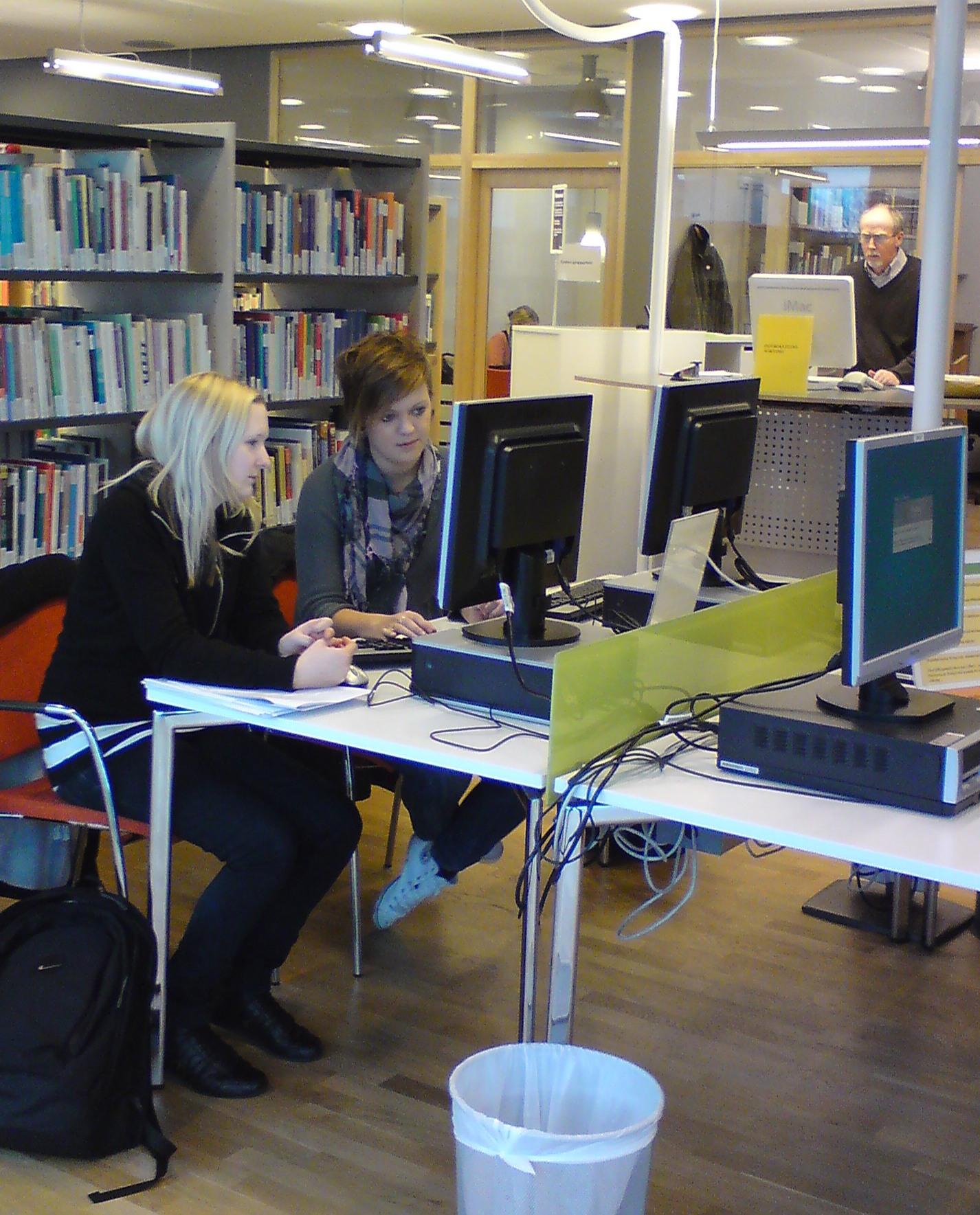 Campusbiblioteket Varberg, användare